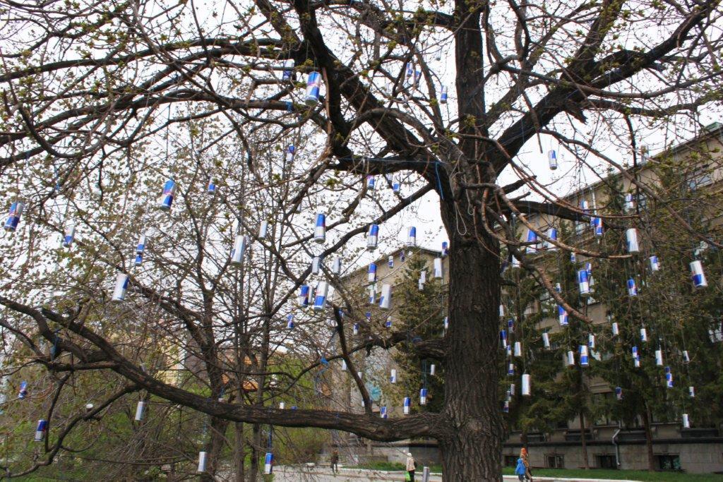 Дерево бодрости появилось в Екатринбурге